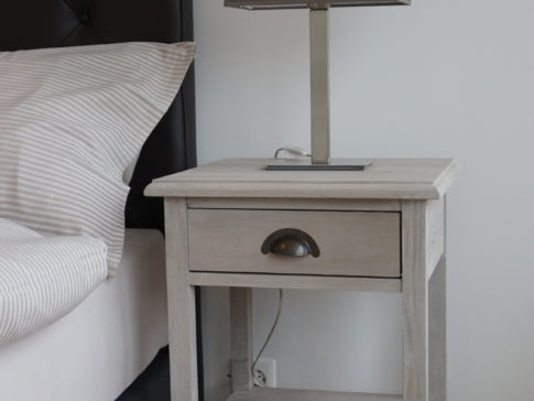 Nightstand table with table lamp