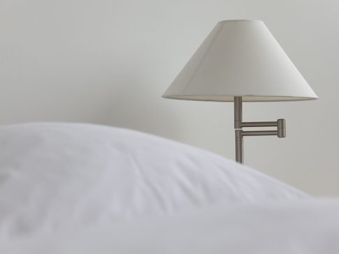 nightstand table with lamp