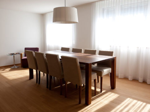 Wooden Table with 6 to 8 chairs